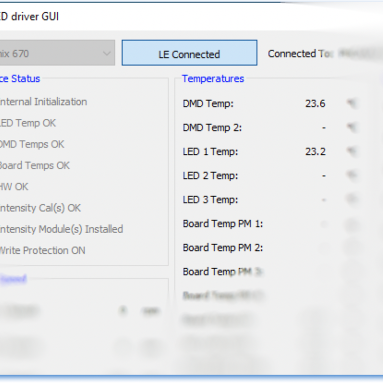 launch of the new LED-Driver for Light Engines GUI